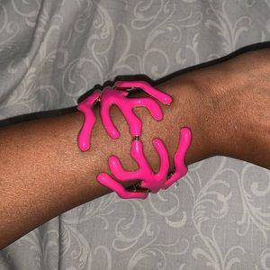 RARE: Pink Coral Reef Cuff Bracelet 🌺
